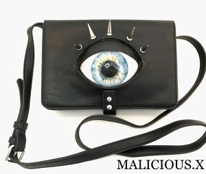 eye shoulder bag /  light blue