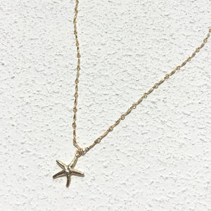 14KGF / Starfish Necklace