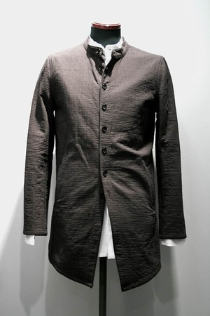 【56%OFF】【by H.New York】Heavy Cotton Mandarin Collar Jacket Coat (CHGR)