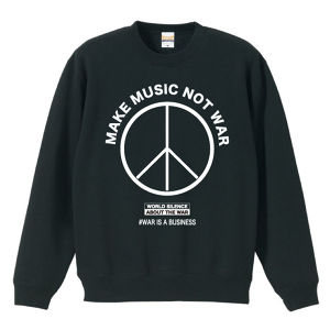 MAKE MUSIC NOT WAR(SWEAT) ブラック