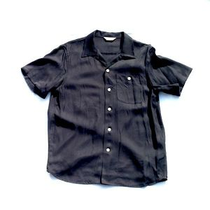 FLOWER  BOWLING SHIRTS(BLACK)