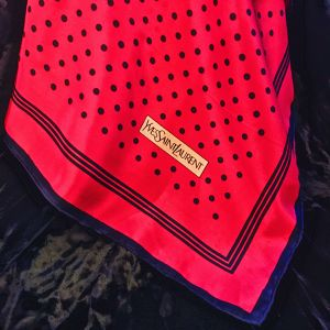 Yves Saint Laurent polka dot scarf