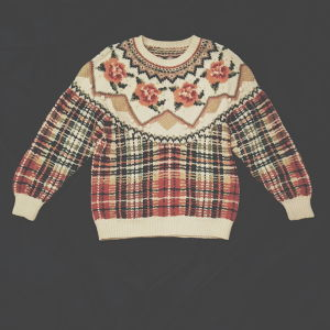 FLOWER×CHECKED KNIT