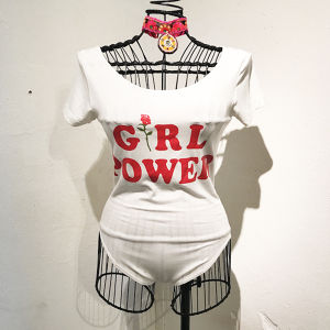 GIRL POWER Bodysuit 2 / White
