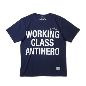 "DAFT-STORE×Let it Ride×UNRIVALED ""WCAHT-SHIRT"" NAVY"