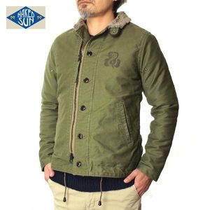 016001002(N-1 DECK JACKET NON-STRETCH with PRINT)-OLIVE-2U