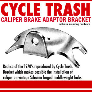 "Replica ""Schwinn-style"" Caliper Brake adaptor Bracket"