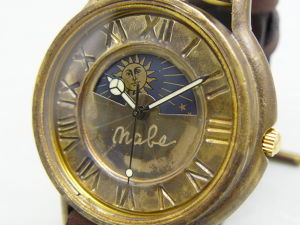 "手作り時計 Hand Craft Watch ""J.B.-S&M"" JUMBO Brass Sun&Moon [JUM31S&M BR]"