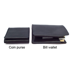 2-Fold Wallet and Coin Purse set