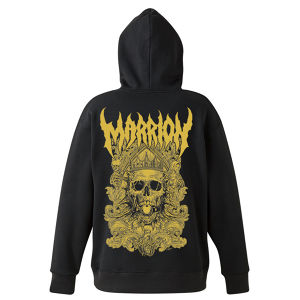 【MARRIONステッカー付】DEATH MARRION~Pullover Hoodie (Black×Gold)