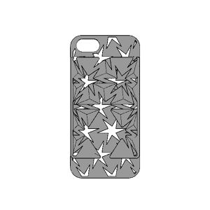 Auxetic pattern iPhone case 5 / SE_Black