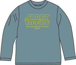 START BEERS Tシャツ グレー〔片面〕【長袖】