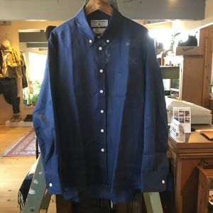 "James Mortimer ""Long Sleeve B.D.(Comfort Fit)""(NEW INDIGO)"