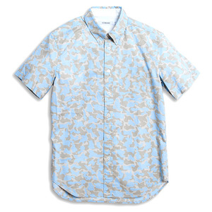 《80%OFF》【MAN】VOID CAMO -SHIRT- BLUE