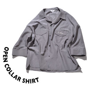 Open collar shirt [ Gray ]