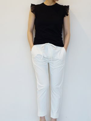 Stretch Tapered Pants / WHITE