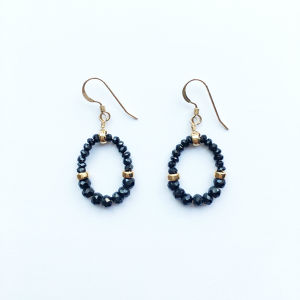 GRACE  Pierced Earrings|Black Spinel