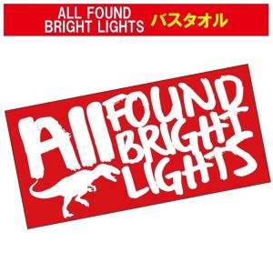ALL FOUND BRIGHT LIGHTS バスタオル