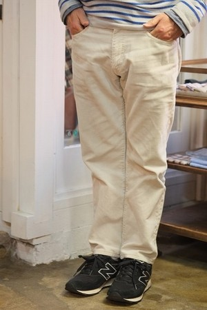 【SALE 50%OFF 】Corduroy Pants C/# Winter-White