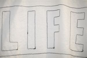 "gilet -Embroidery ""LIFE"" T-Shirts-"