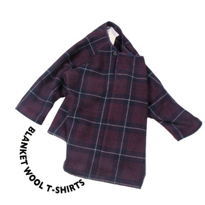 Blanket Wool T-shirt [ Red Check ]