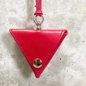 [nonsensical]Triangle Coinpurse(Red×Silver)