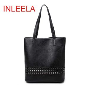 INLEELA New Arrival Autumn Bag Large Size Women Shoulder Bag  Daily Vintage Women Messenger Bag Causal Rivet Bag