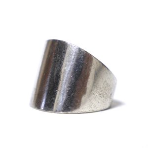 Vintage Sterling Silver Mexican Solid Chunky Tapered Ring