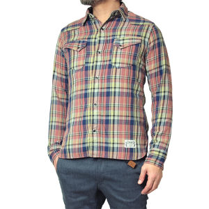 016003002(CHECK WESTERN SHIRTS)RED