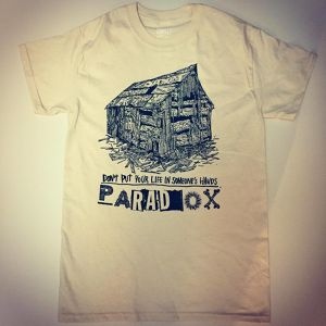 Old Cabin T-shirts ( Natural) Dark Green print