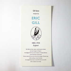 GREAT TYPE DESIGNERS SERIES ERIC GILL