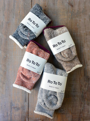 ROTOTO(ロトト)DOUBLE FACE SOCKS R1001