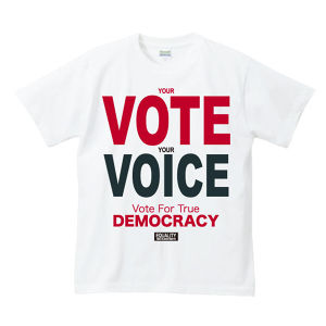 YOUR VOTE IS YOUR VOICE : 1(T-SHIRT) ホワイト / レッド
