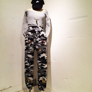 Camo Spangle Sweat Pants / Gray