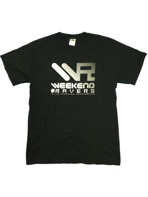[一点物]WEEKEND RAVERS V.6 T-SHIRT M SIZE (Black / NightGLOW)