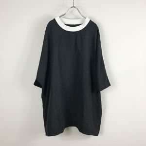 【受注予約】keisukeyoneda shoulder loess line over tee  Black