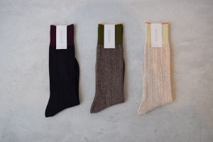 BA02-BN13 lamb wool angora ribbed socks