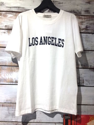 LOS ANGELES ロゴTEE White  size L