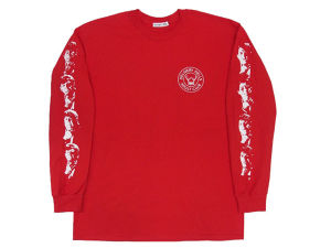 """DELIHELL"" L/S Tee  RED"