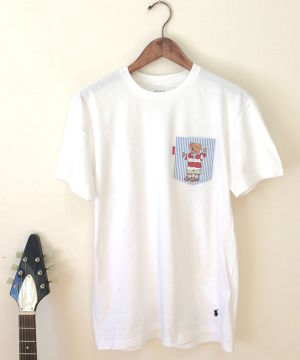 tokyo gimmicks horse and bear pocket tee white size m