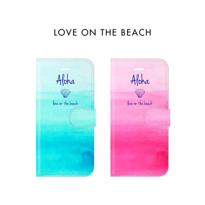 【手帳型】 LOVE ON THE BEACH