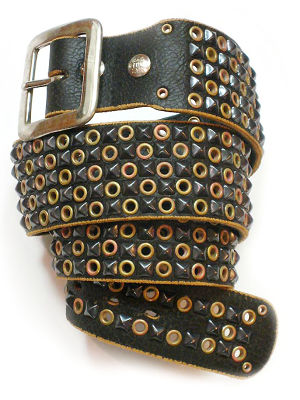 ★BALTAZAR★ Checker Pyramid belt, #PMD-B1Pblk/BlackPyramid