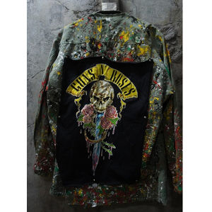 'GUNS AND ROSES' PAINTED U.S. ARMY FATIGUE JACKET