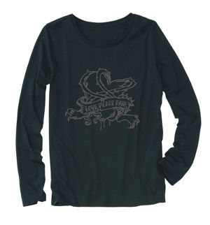 "【Ladie's】""lovepeacepain"" Long Sleeve T-shirt"