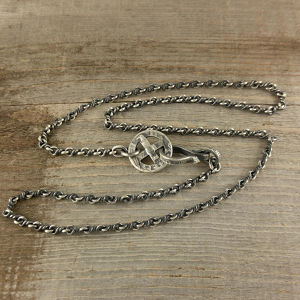 【受注生産】INFINITY TWIST CHAIN type of SILVER COIN HOOK