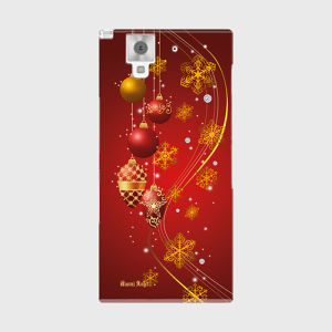 【ARROWS NX (F-02H)】Winter Holiday Gorgeous Red ウィンター・ホリデー ゴージャスレッド ツヤありハード型スマホケース