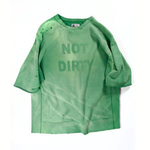NOT DIRTY DAMAGE SWEAT GREEN