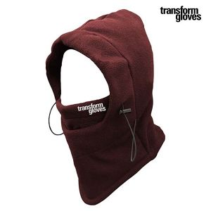 The Villian Hooded neckwarmer - Burnt Red- Transform Gloves