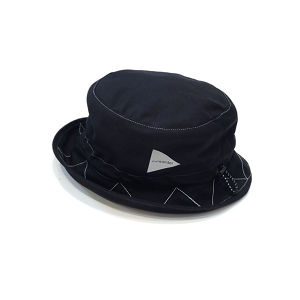 【and wander】cotton nylon ox hat