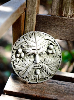 Garden Ornament Green Man Plaque Small【予約販売】
